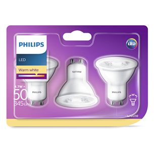 3 x LED pirn Philips / GU10, 50W, 345 lm