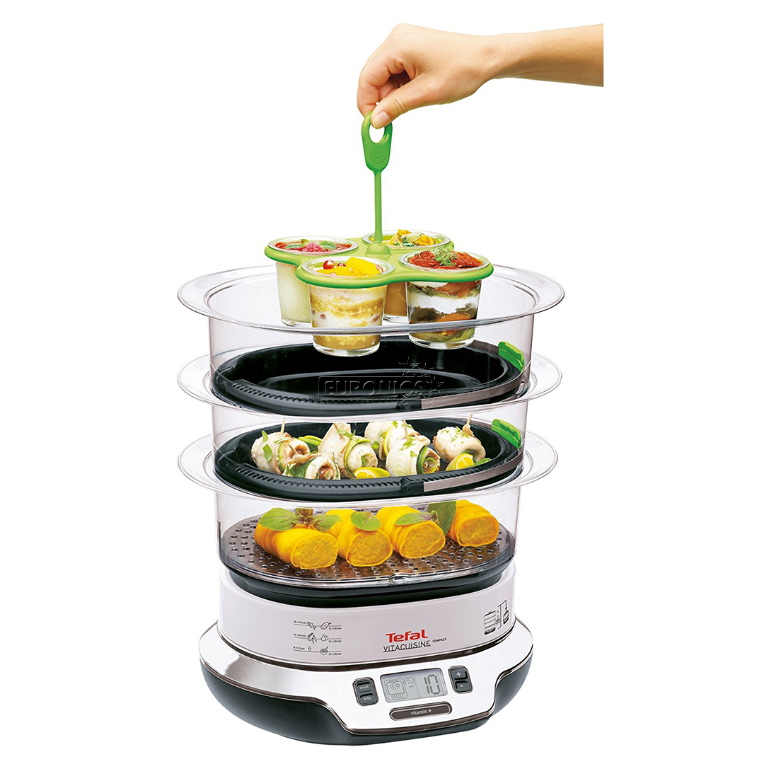 Food steamer tefal vitacuisine compact 1800w vs4003 for Steamer cuisine
