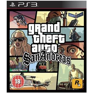 PS3 mäng Grand Theft Auto San Andreas