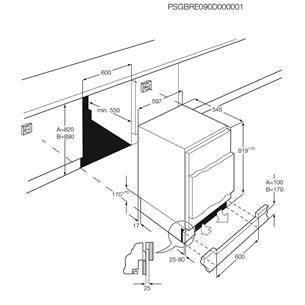 Integreeritav jahekapp AEG (82 cm)