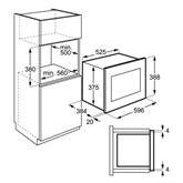 Интегрируемая микроволновая печь, AEG / объём: 25 л