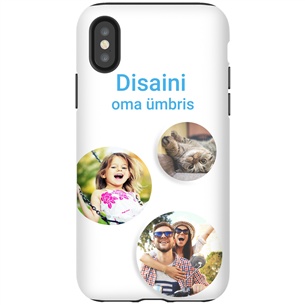 Disainitav iPhone X läikiv ümbris / Tough