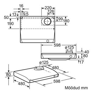 Вытяжка Bosch (340 м³/ч)