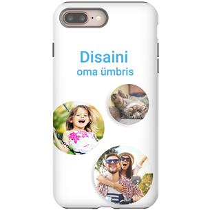 Disainitav iPhone 8 Plus läikiv ümbris / Tough