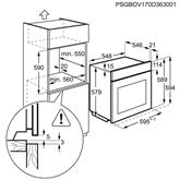 Integreeritav ahi Electrolux / ahju maht: 72 L