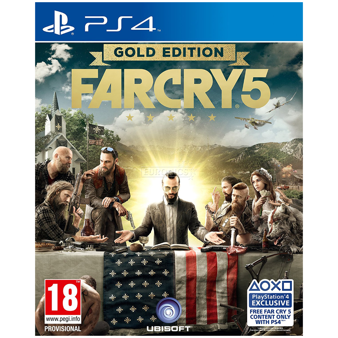 ps4 game far cry 5 gold edition pre order ps4farcry5g. Black Bedroom Furniture Sets. Home Design Ideas