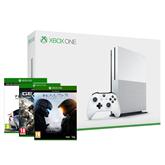 Mängukonsool Microsoft Xbox One S (500 GB) + 3 mängu