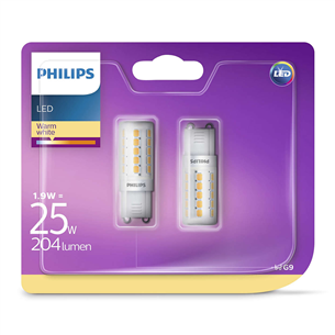 LED lamp Philips G9 (2 tk)
