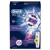 Electric toothbrush Oral-B PRO750 3D White + travel case, Braun