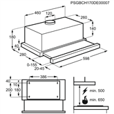 Built-in cooker hood, AEG / 240 m³/h