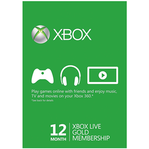 Subscription card Xbox Live GOLD (12 months)
