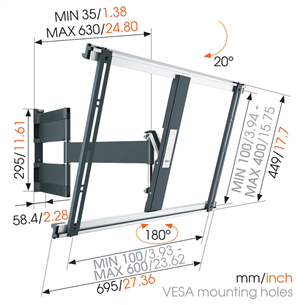 "TV wall mount Vogels (40-65"")"