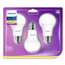 LED lamp Philips E27 (3 tk)