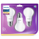 LED lamp Philips E27 (3 pcs)