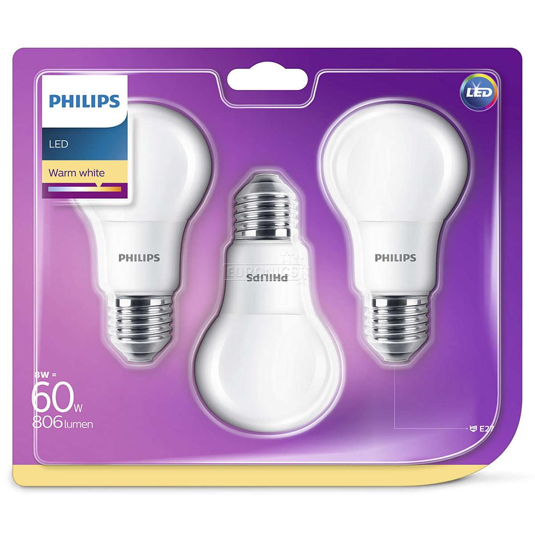 led lamp philips e27 3 pcs 929001234381. Black Bedroom Furniture Sets. Home Design Ideas