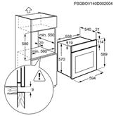 Интегрируемая духовка, Electrolux / объем: 57 л