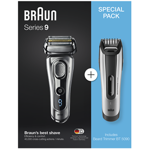 Бритва Braun Series 9 + триммер для бороды BT5090
