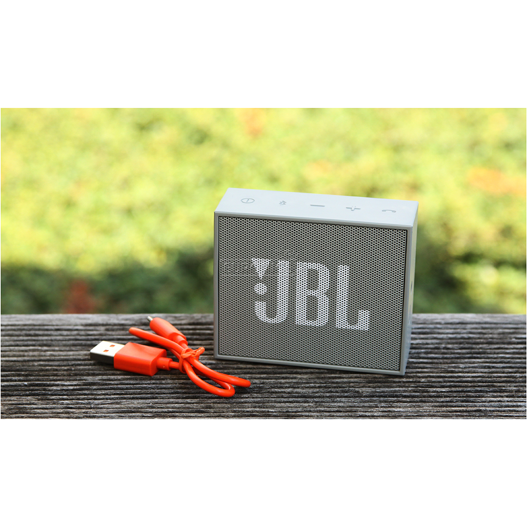 Jbl Go Grey on smartphone wireless speakers