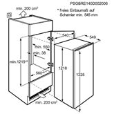 Built-in refrigerator Electrolux (122 cm)