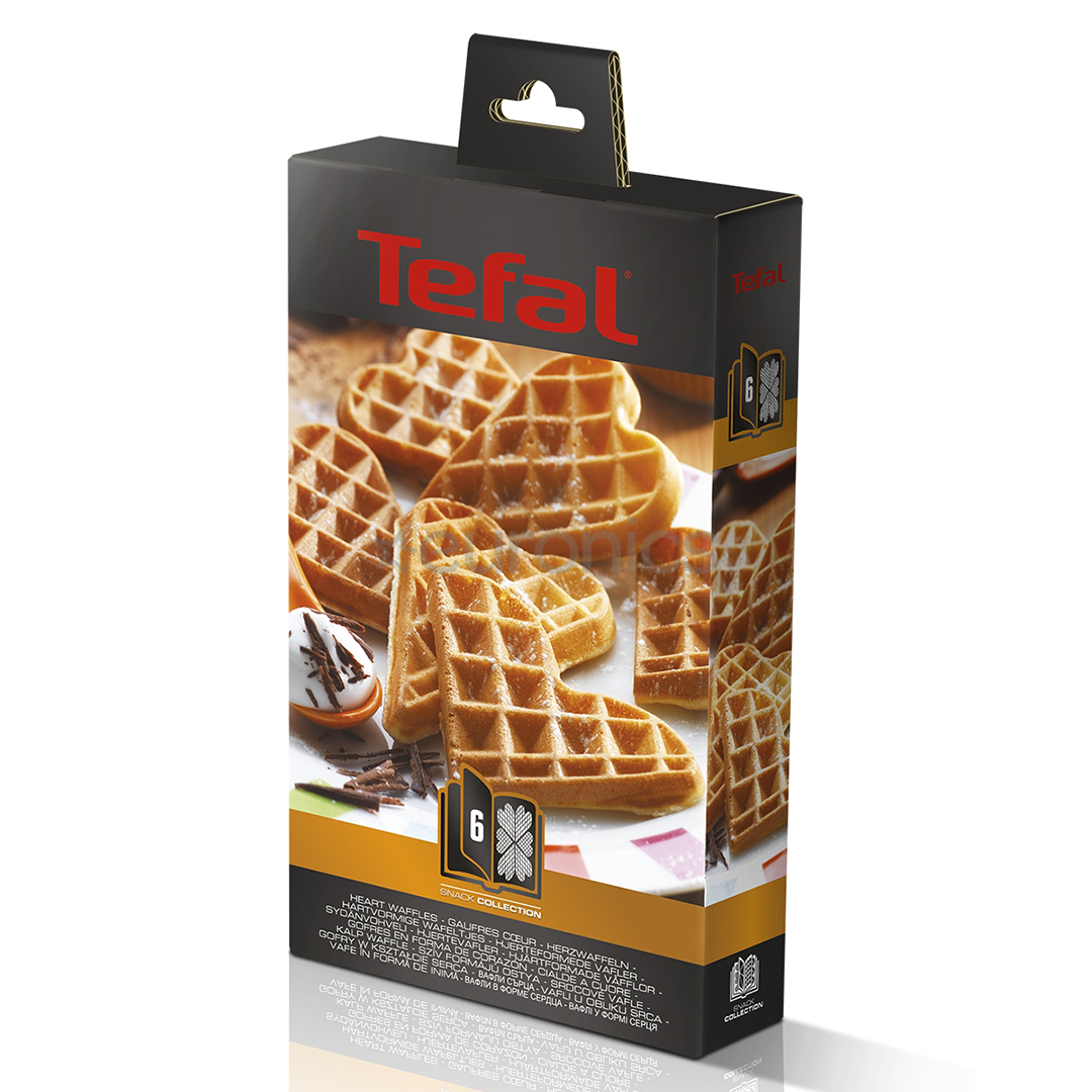 heart shaped waffle set for tefal snack collection xa800612. Black Bedroom Furniture Sets. Home Design Ideas