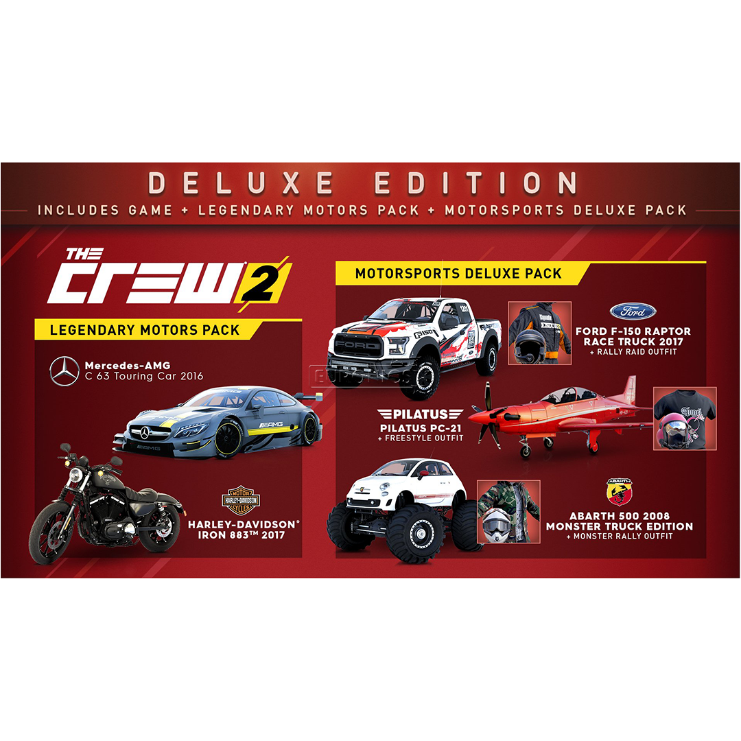 xbox one game the crew 2 deluxe editon pre order x1crew2. Black Bedroom Furniture Sets. Home Design Ideas