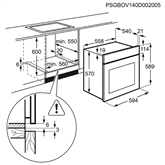 Интегрируемый духовой шкаф, Electrolux / объём: 57 л