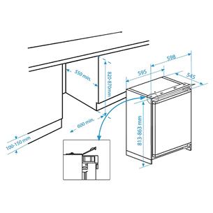 Интегрируемый холодильник Beko (82 см)