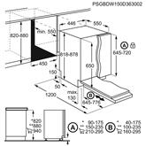 Integreeritav nõudepesumasin Electrolux (9 nõudekomplekti)