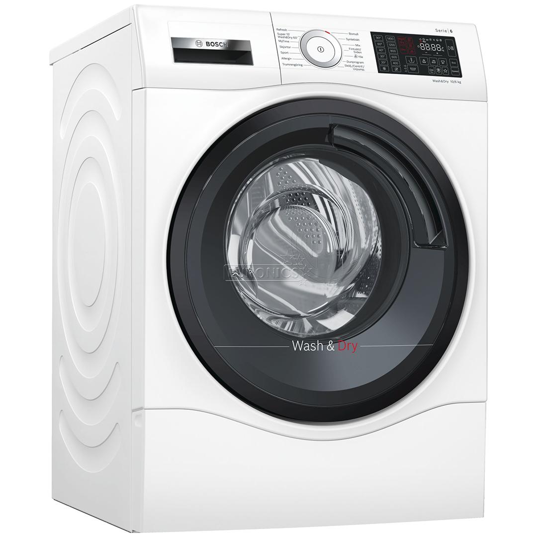 washing machine dryer bosch 10 kg 6 kg wdu285s1sn. Black Bedroom Furniture Sets. Home Design Ideas