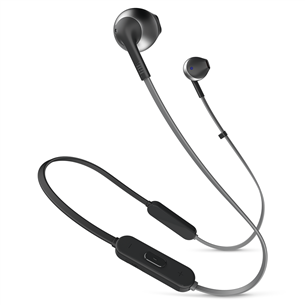 Wireless earphones Tune 205BT, JBL JBLT205BTBLK