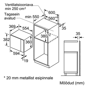 Built - in microwave Bosch (25 L)
