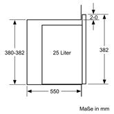 Integreeritav mikrolaineahi Bosch (25 L)