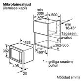Integreeritav mikrolaineahi Bosch (17 L)
