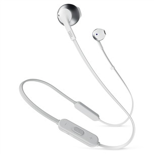 Wireless earphones Tune 205BT, JBL JBLT205BTSIL