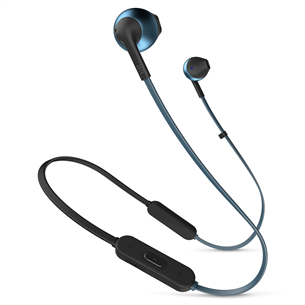 Wireless earphones Tune 205BT, JBL JBLT205BTBLU