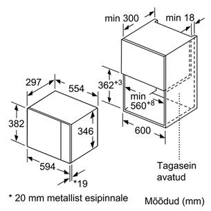 Интегрируемая микроволновая печь, Bosch  / объем: 20 L