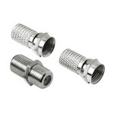 2x F-plug + F-coaxial adapters Hama