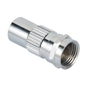 F-plug -- coaxial plug adapter Hama