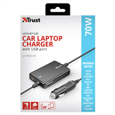 Universaalne sülearvuti autolaadija Trust