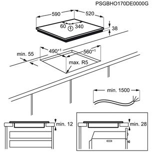 Интегрируемая керамическая варочная панель Electrolux