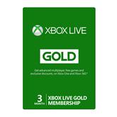 Xbox Live Gold liikmekaart Microsoft (3 kuud)