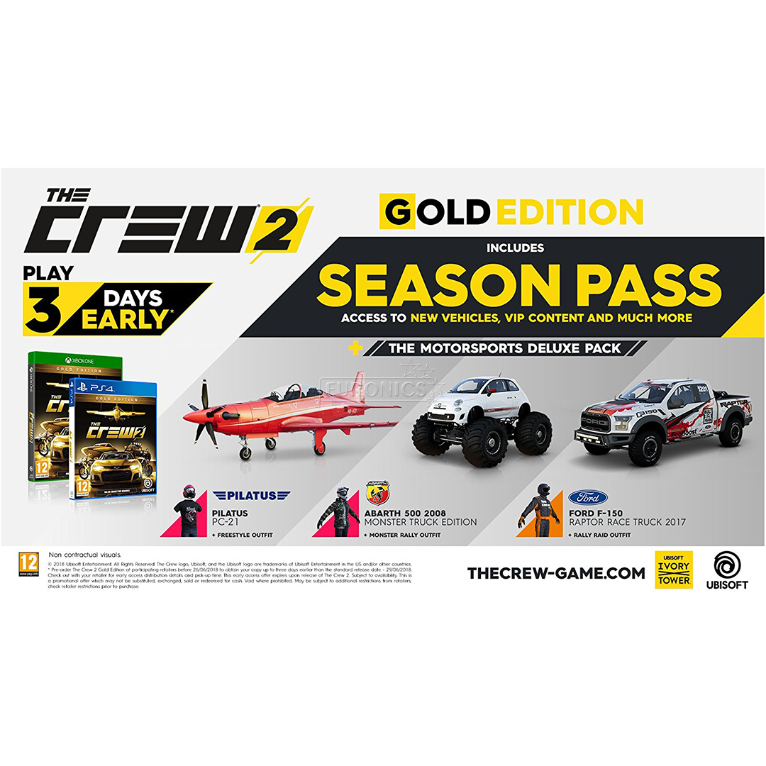 Xbox One game The Crew 2 Gold Editon