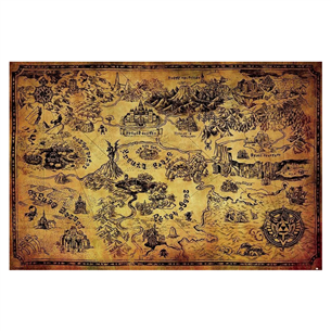 The Legend of Zelda Hyrule map