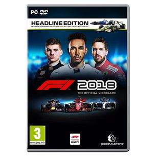 Arvutimäng F1 2018 Headline Edition