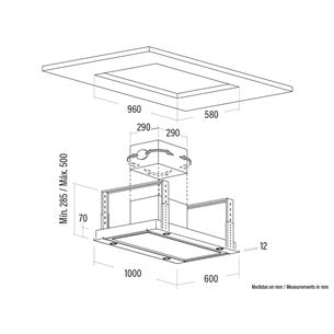 Built-in cooker hood Cata Isla Sirin 1000 WH (850 m³/h)