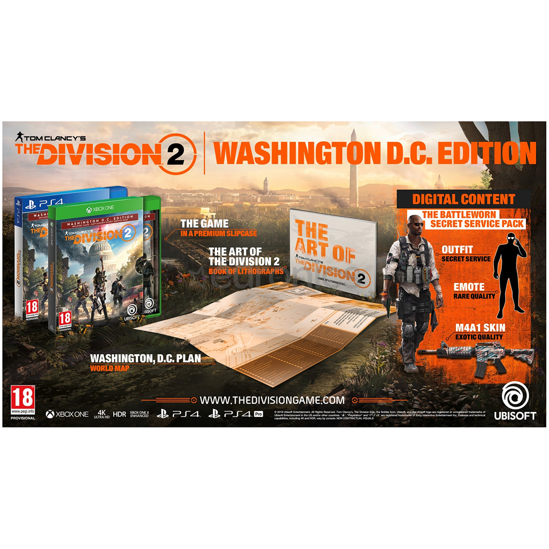 Xbox One mäng Tom Clancys: The Division 2 Washington D.C. Edition