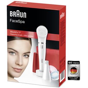 Näoepilaator ja puhastushari Braun FaceSpa