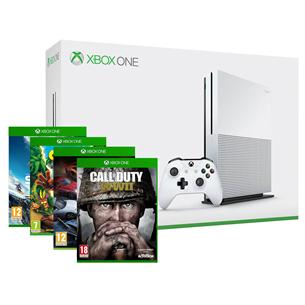 Mängukonsool Microsoft Xbox One S (1 TB) + 4 mängu