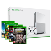 Gaming console Microsoft Xbox One S (1TB) + 4 games