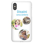Чехол с заказным дизайном для iPhone XS / Snap (матовый)